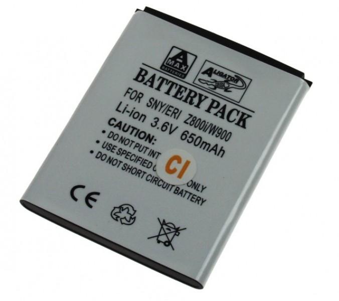 Baterie Aligator pro Sony Ericsson J100/ K550/ K790/ K800/ M600, LI-ION, 800 mAh, kompatibilní