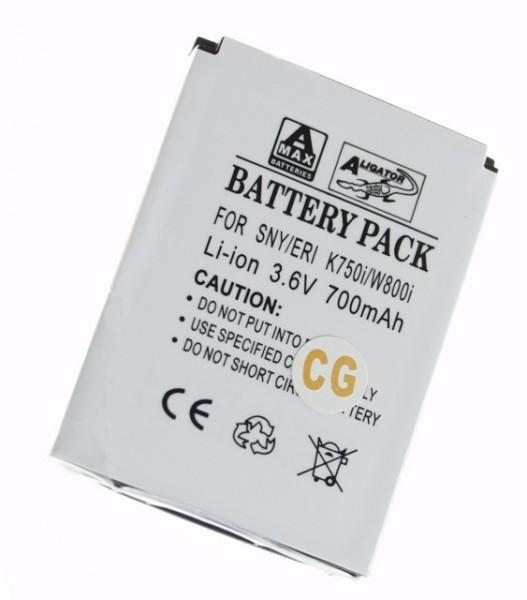 Baterie Aligator pro Sony Ericsson K/D750i/K600i/W800i/Z520i, Li-ION, 700 mAh, kompatibilní