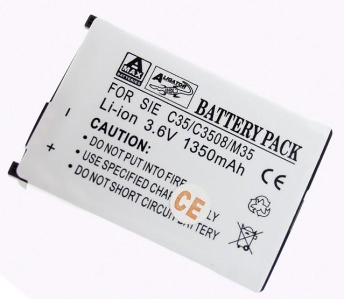 Baterie Aligator pro Siemens C35/M35, Li-ION, 1350 mAh, kompatibilní