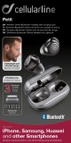 True wireless sluchátka Cellularline PETIT s dobíjecím pouzdrem, černá