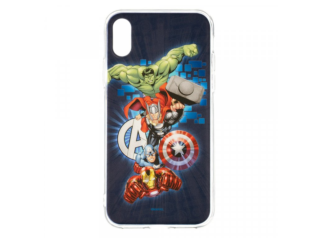 Zadní kryt Marvel Avengers 001 pro Apple iPhone XS Max, dark blue