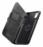 Cellularline Supreme flipové pouzdro pro Apple iPhone XR, černé