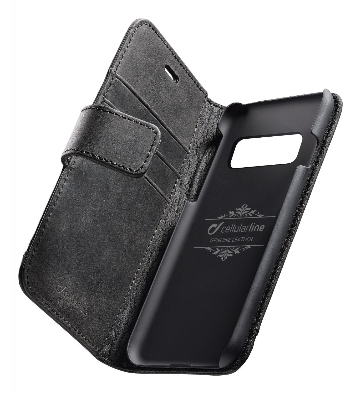Cellularline Supreme flipové pouzdro pro Samsung Galaxy S10, černé
