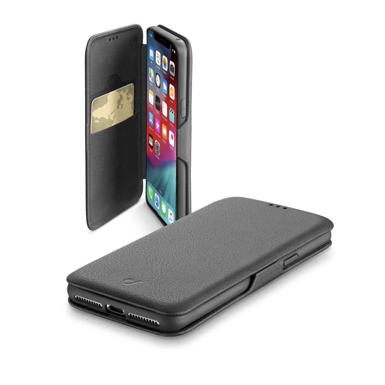 CellularLine Book Clutch flipové pouzdro pro Apple iPhone XS Max, černé
