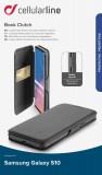 CellularLine Book Clutch flipové pouzdro pro Samsung Galaxy S10, černé