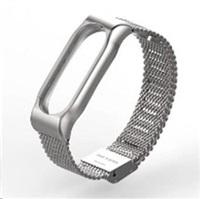Eses kovový stříbrný náramek pro Xiaomi Mi Band 2