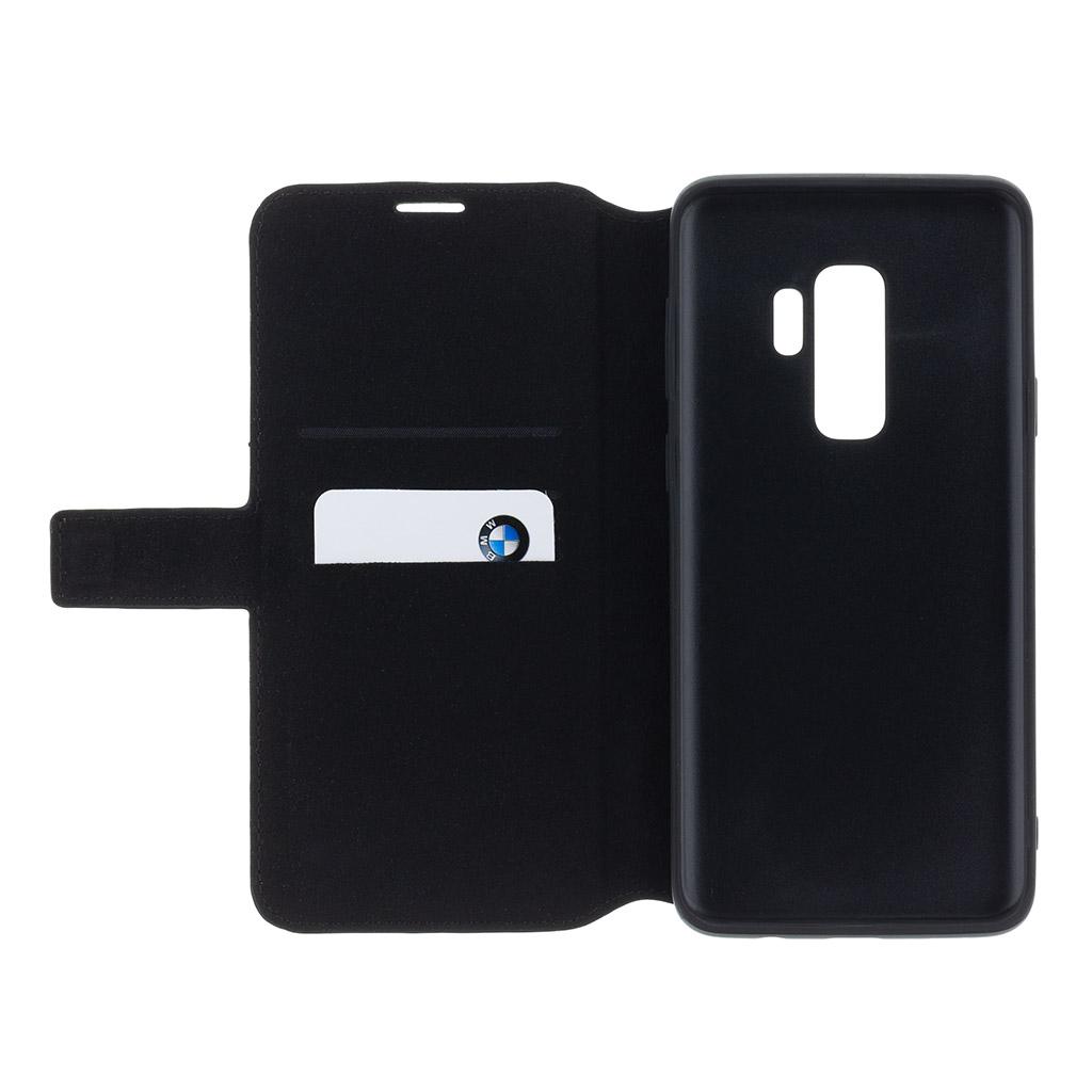 BMW Hexagon BMFLBKS9HEXBK flipové pouzdro pro Samsung Galaxy S9 black