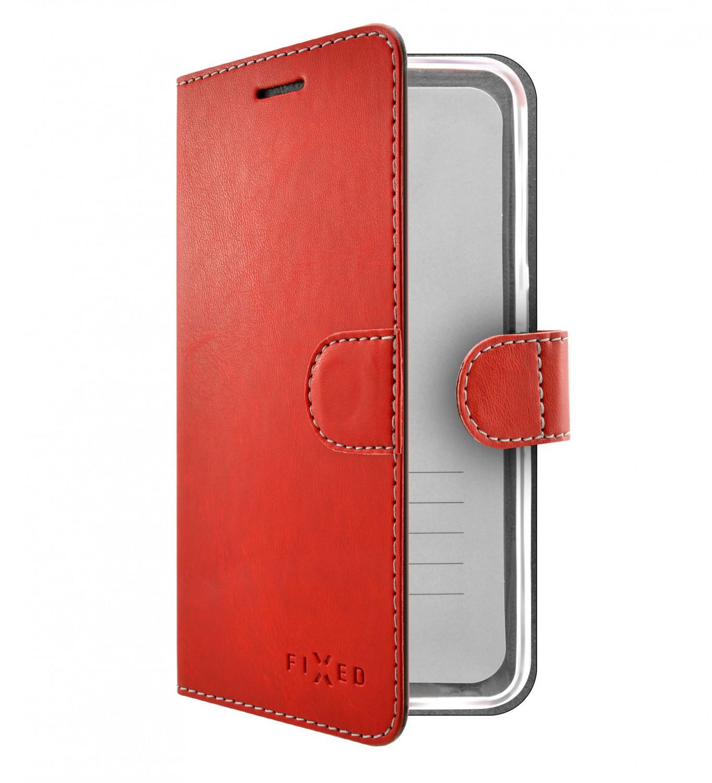 FIXED FIT flipové pouzdro pro Xiaomi Redmi Note 7/7 Pro, červené