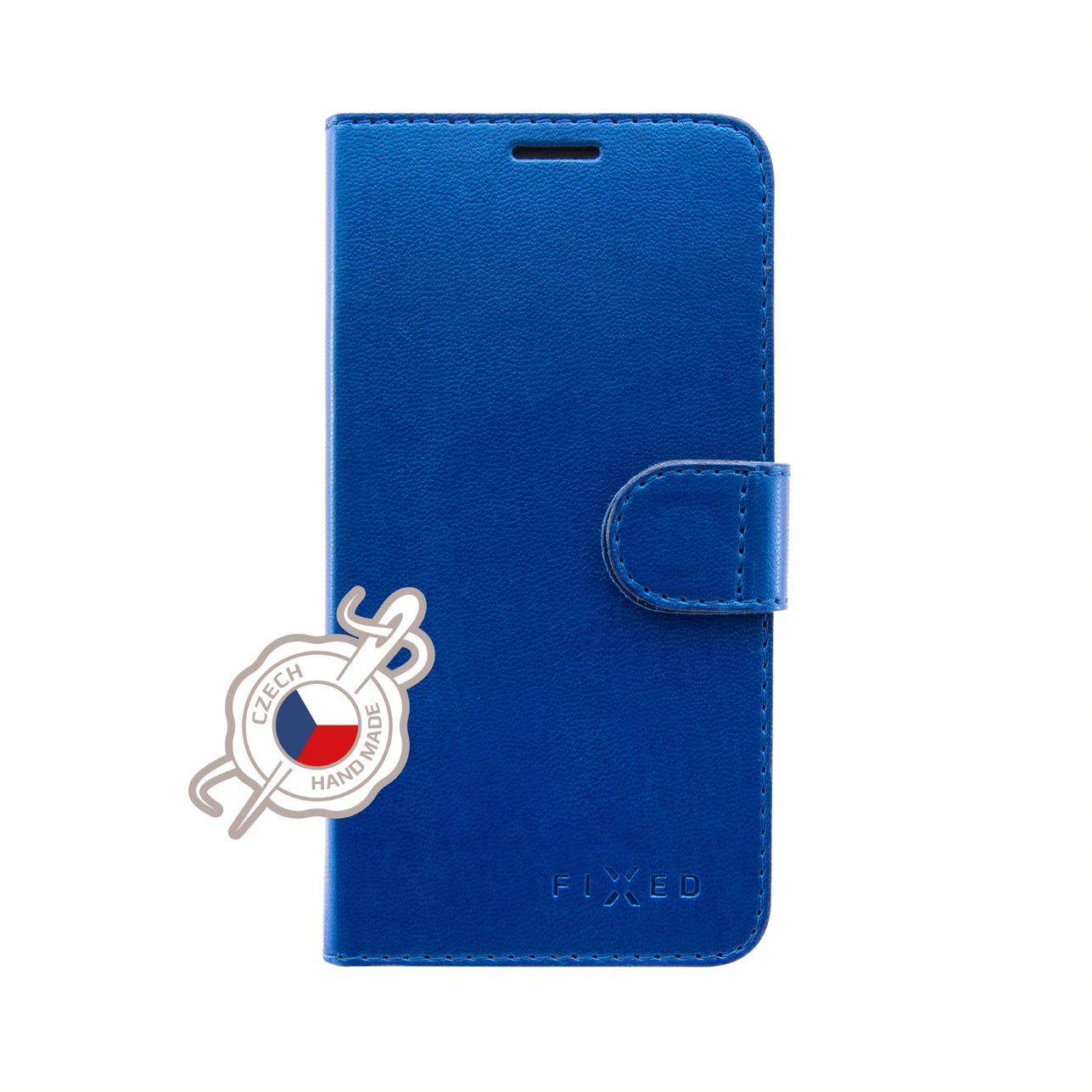 FIXED FIT SHINE flipové pouzdro pro Xiaomi Redmi Note 7/7 Pro, modré