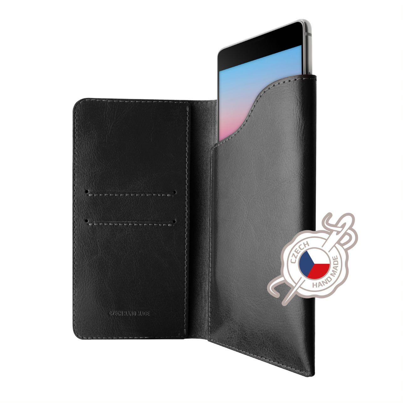 FIXED Pocket Book Kožené pouzdro pro Apple iPhone 6/6s/7/8, černé