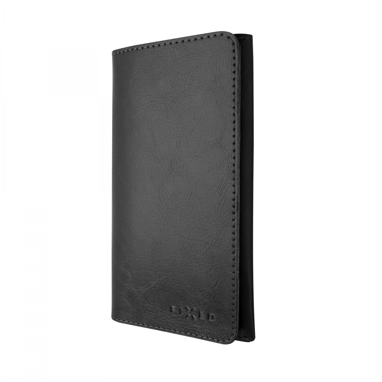 FIXED Pocket Book Kožené pouzdro pro Apple iPhone X/XS, černé
