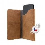 Pocket Book Kožené pouzdro pro Apple iPhone X/XS hnědé