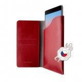 FIXED Pocket Book Kožené pouzdro pro Apple iPhone 6/6s/7/8, červené