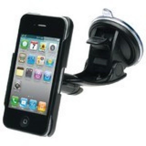 Univerzální MUVIT sada 3in1 pro Apple iPhone 4, multifunkční pouzdro, držák na stůl a do auta