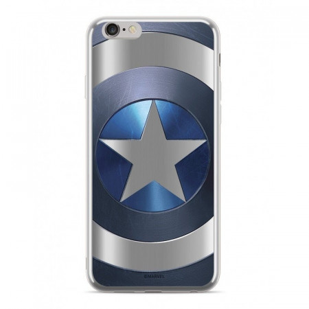 Zadní kryt Marvel Captain America 027 Premium Glass pro Apple iPhone XS, blue