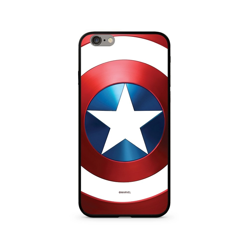 Zadní kryt Marvel Captain America 026 Premium Glass pro Apple iPhone XS, multicolored