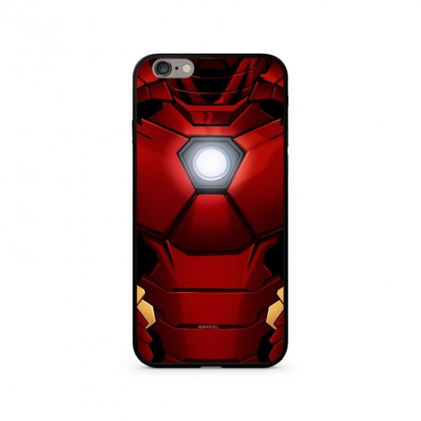 Zadní kryt MARVEL Iron Man 024 Premium Glass pro Apple iPhone XR, red