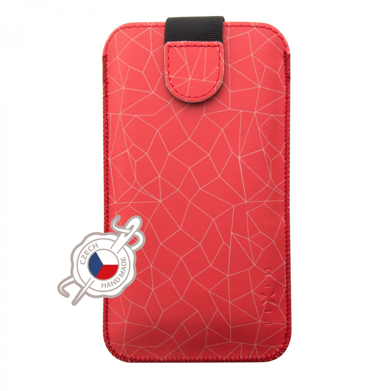 FIXED Soft Slim pouzdro velikost 4XL+, motiv Red Meshzavíráním, PU kůže, velikost 4XL+, motiv Red Mesh