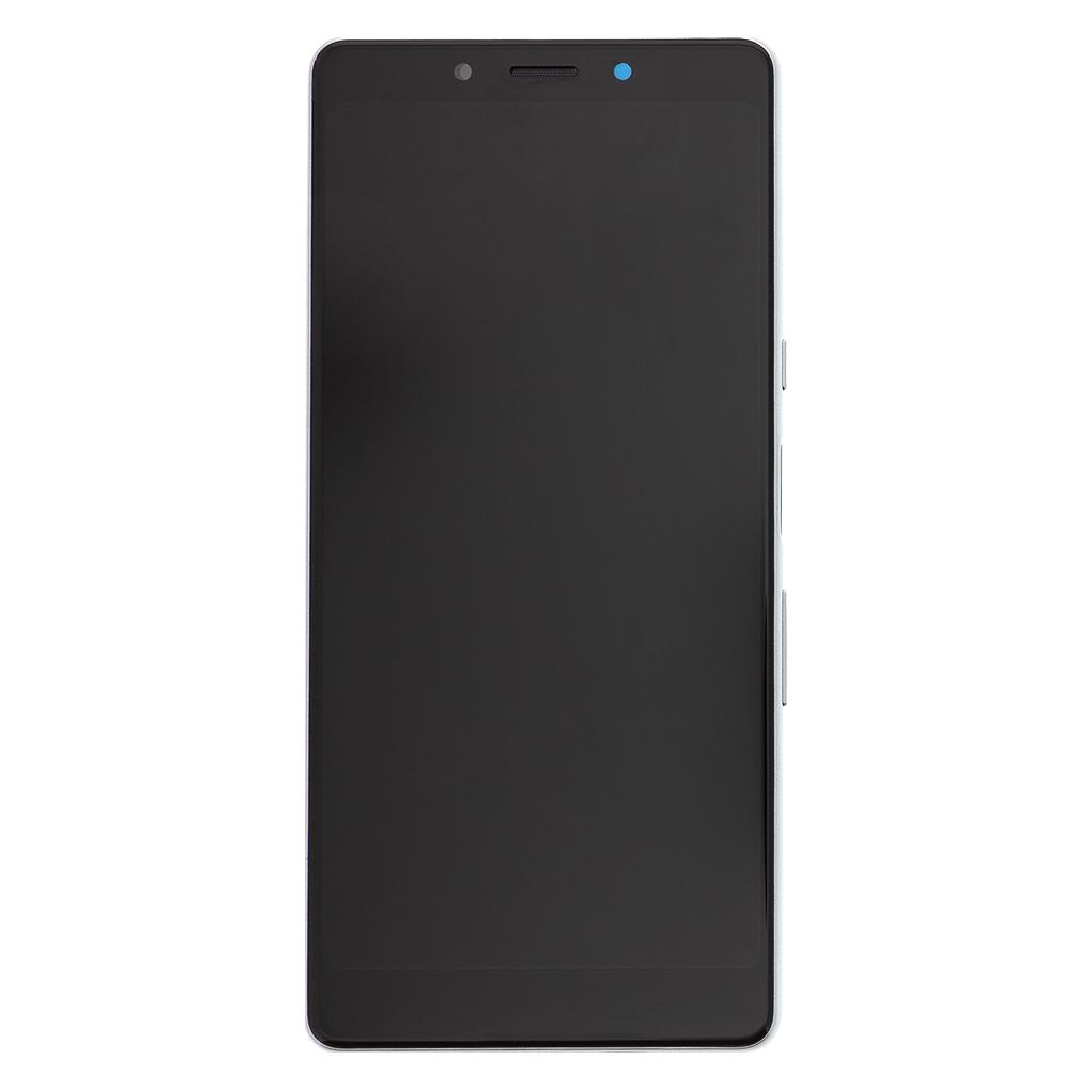 LCD + dotyk + přední kryt pro Sony Xperia L3, black/silver Service Pack