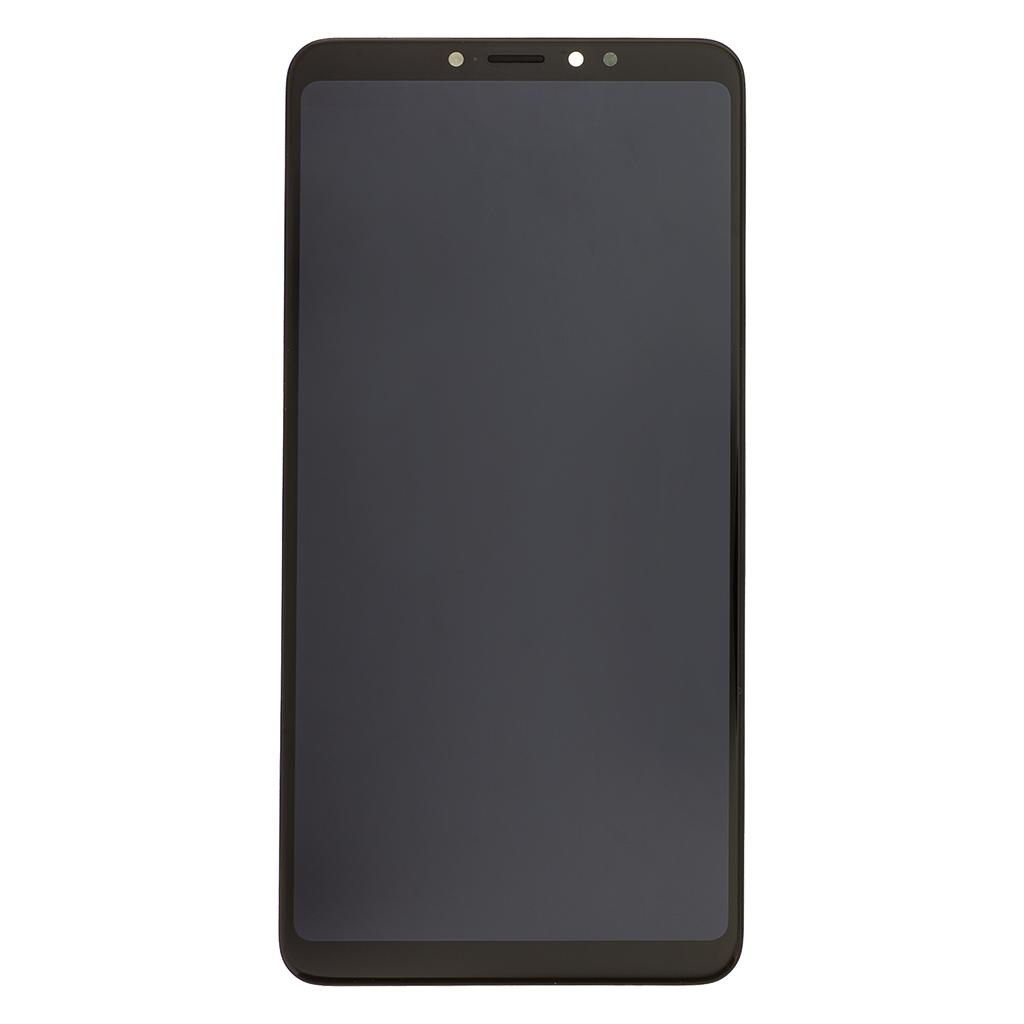 LCD + dotyk + přední kryt pro Xiaomi Mi Max 3, black Service Pack
