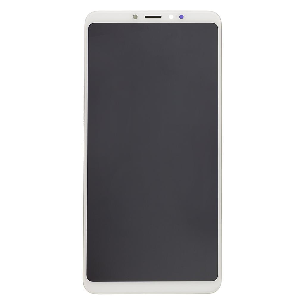LCD + dotyk + přední kryt pro Xiaomi Mi Max 3, white Service Pack