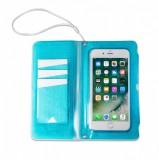 """CELLY Splash Wallet voděodolné pouzdro na telefony 6.2 """", modré"""