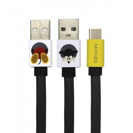 Datový kabel Disney Mickey Type C, black