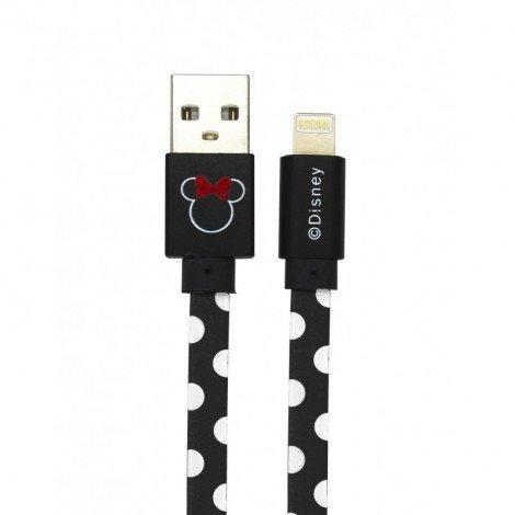 Datový kabel Disney Minnie Lightning Dots, black