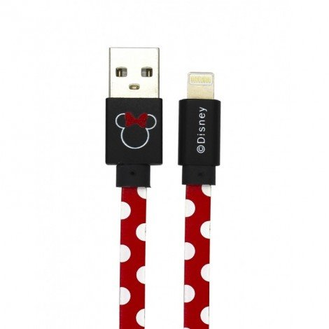 Datový kabel Disney Minnie Lightning Dots, red