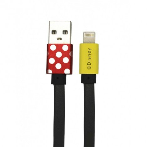 Datový kabel Disney Minnie Lightning, red
