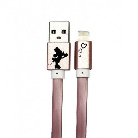 Datový kabel Disney Minnie Lightning Heart, rose gold