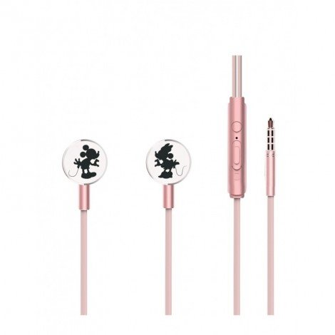 Sluchátka Disney stereo 3.5mm Mouse Kissing, rose gold