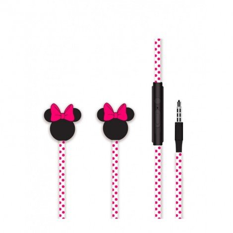 Sluchátka Disney stereo 3.5mm Minnie Matt 3D, pink