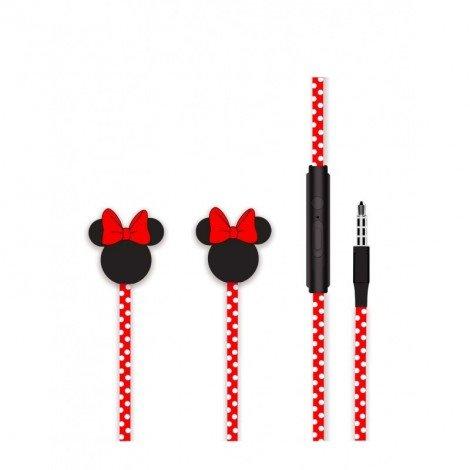 Sluchátka Disney stereo 3.5mm Minnie Matt 3D, red
