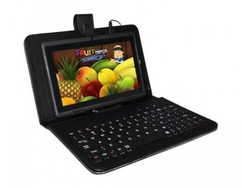 """Pouzdro Tablet 10"""" s klávesnicí microUSB, syntetická kůže, black"""