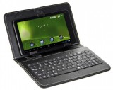 """Pouzdro Tablet 9"""" s klávesnicí microUSB černé, syntetická kůže, bulk"""