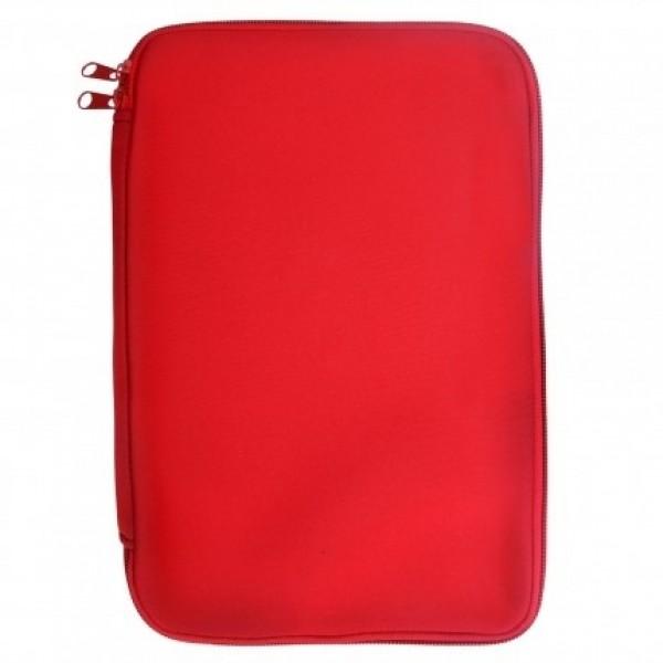 """Pouzdro TABLET neopren 7""""- 8,9"""", zapínaní na zip, univezální, Red"""