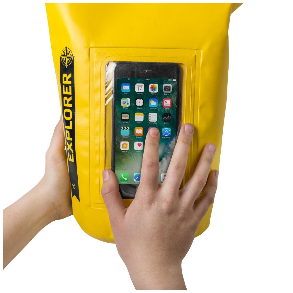 """CELLY Explorer voděodolný vak 2L s kapsou na telefon do 6.2"""", žlutý"""