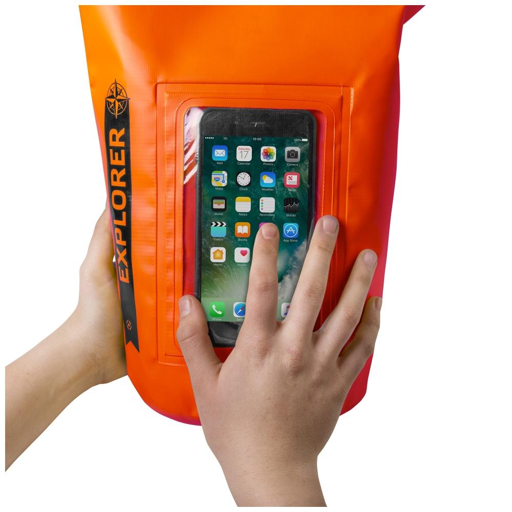 """CELLY Explorer voděodolný vak 5L s kapsou na telefon do 6.2"""", oranžový"""