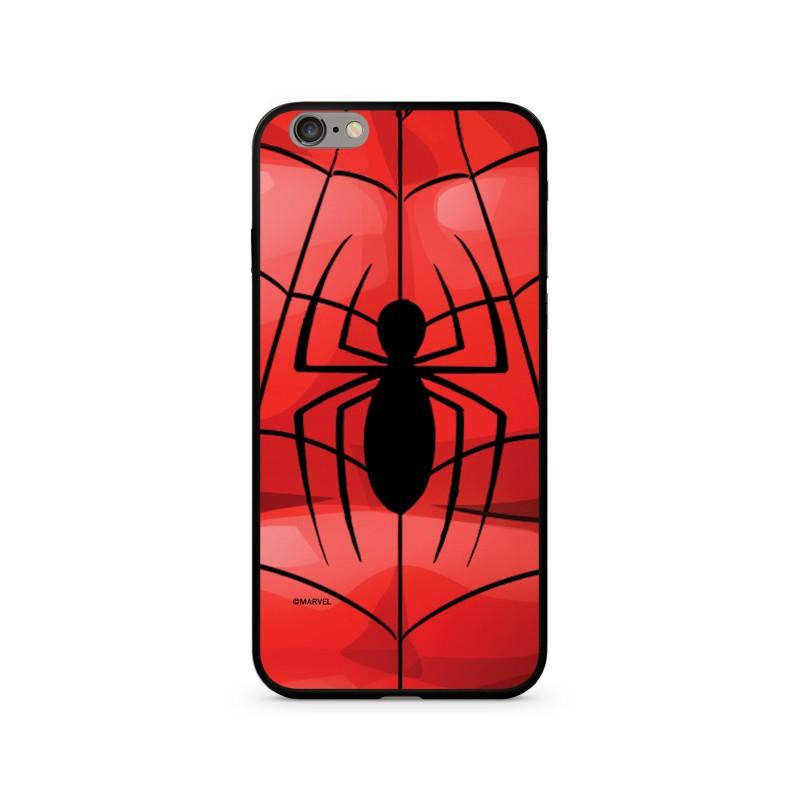 Zadní kryt Marvel 017 Premium Glass pro Apple iPhone X, red
