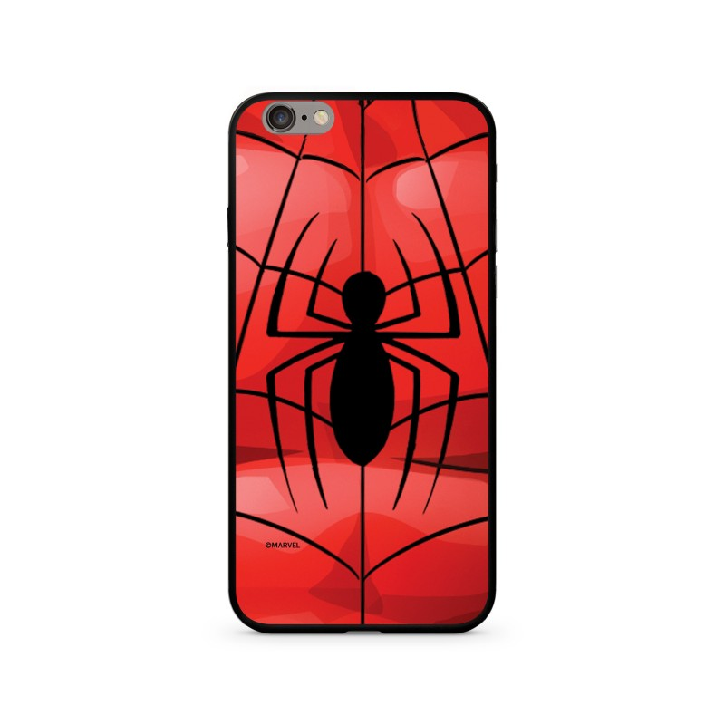 Zadní kryt Marvel 017 Premium Glass pro Apple iPhone 7/8, red