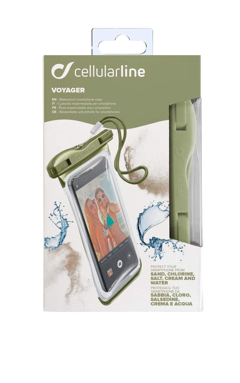 Cellularline VOYAGER 2019 vodotěsné pouzdro, zelené