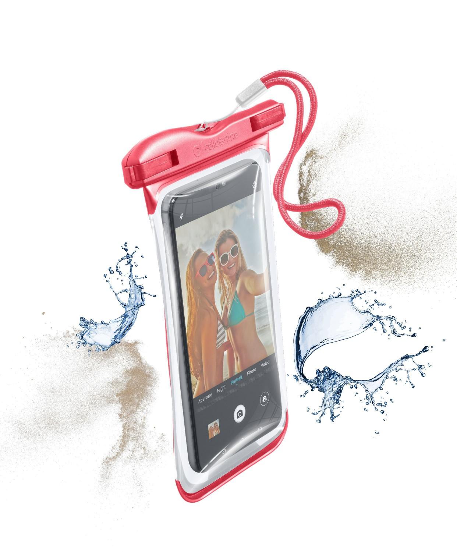 Cellularline VOYAGER 2019 vodotěsné pouzdro, růžové
