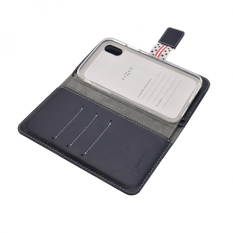 FIXED Double Book flipové pouzdro pro Apple iPhone X/XS, modré