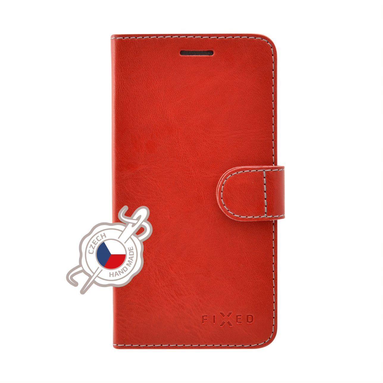 FIXED FIT flipové pouzdro pro Xiaomi Redmi 7, červené
