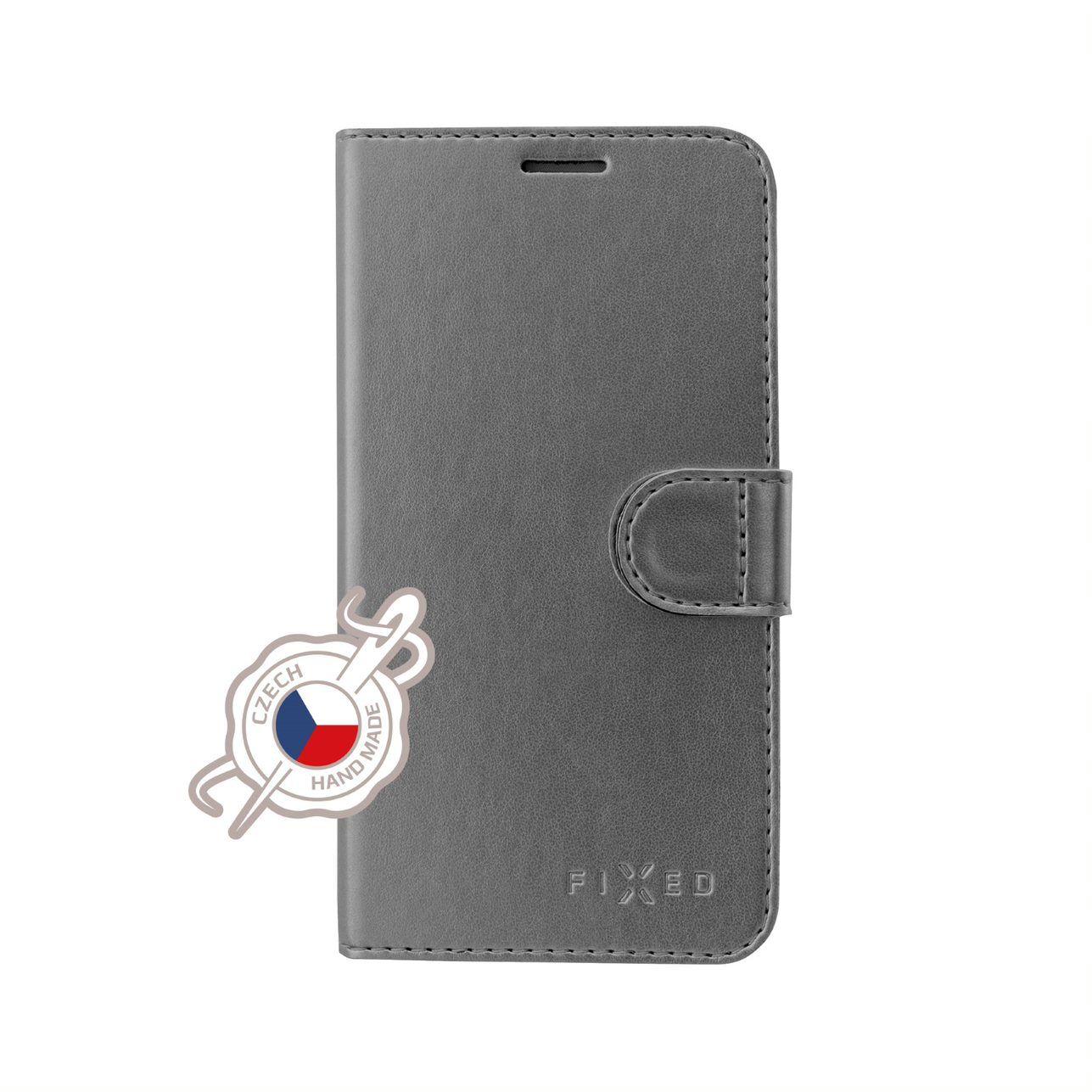 FIXED FIT SHINE flipové pouzdro pro Samsung Galaxy A40, antracitové