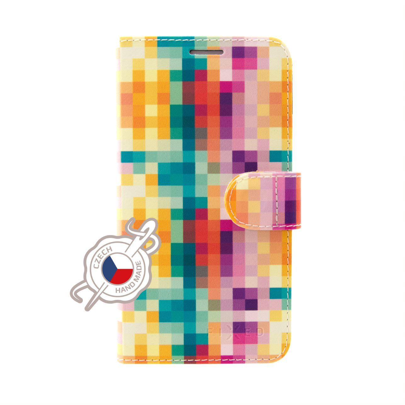 FIXED FIT flipové pouzdro pro Samsung Galaxy A40, motiv Dice