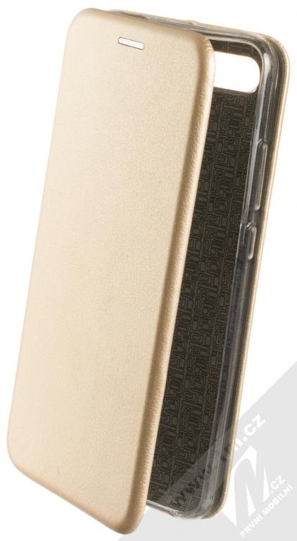 Flipové pouzdro Forcell Elegance pro Samsung Galaxy A50, gold
