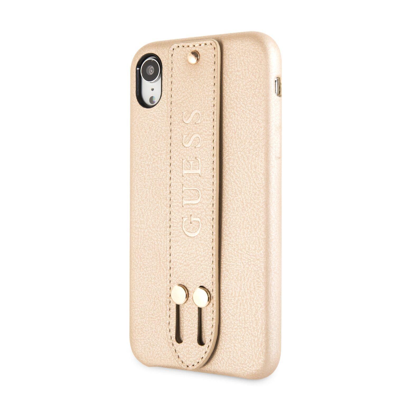 Guess Saffiano Strap GUHCI61SBSBE Pouzdro pro Apple iPhone XR beige