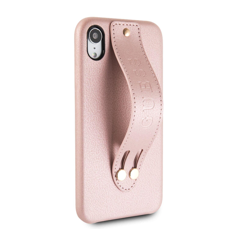 Guess Saffiano Strap GUHCI61SBSRO Pouzdro pro Apple iPhone XR rose